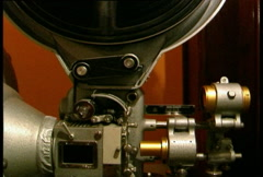 old cinema projector - stock footage