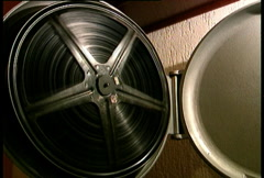 Old film reel Stock Footage