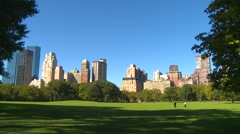 New York City, sheep meadow Central Park, New York framed Stock Footage