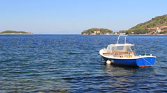 Boat in the Adriatic Sea (With Sound) Stock Footage