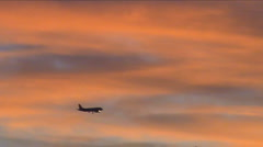 An airplane goes to landing Stock Footage
