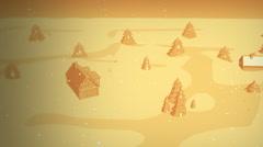 Peaceful Town in Orange Tone Stock Footage