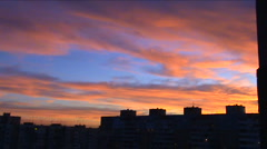 Sunset above a city - stock footage