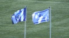 Flag of Odesa FC Chornomorets - stock footage