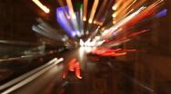 Road night streaks01 Stock Footage