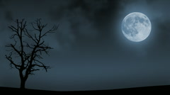 Loopable full moon night background Stock Footage