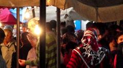 Crowd bazaar 02 Stock Footage