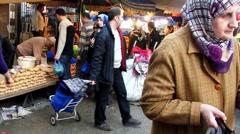 People bazaar 03 Stock Footage