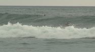Stock Video Footage of surfer attempts huge wave in Costa Rica