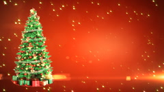 Christmas Tree with place for your text. Loopable - stock footage