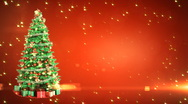 Stock Video Footage of Christmas Tree with place for your text. Loopable