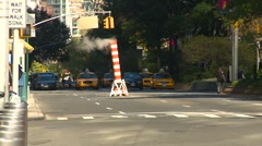 New York City, people and traffic steam pipe, #1 Stock Footage