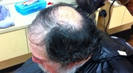 Stock Video Footage of Old man haircut