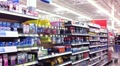 Medicine Aisle at Department Store HD Footage