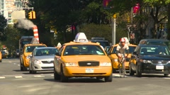 New York City, people and traffic steam pipe, #2 Stock Footage