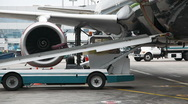 Unloading luggage Stock Footage