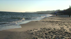 Sea, sand, horizon Stock Footage