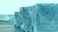 Stock Video Footage of tabular iceberg