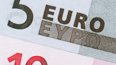 Euro notes numbers Stock Footage