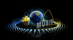Music World with Graphic Equalizer - Equalizer 50 (HD) Stock Footage