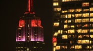 Stock Video Footage of Empire Sate Building Night Time Lapse