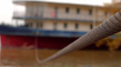 Steel Rope and Ship 04 Stock Footage