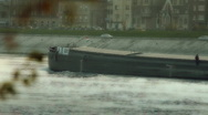BargeMaster on River Stock Footage