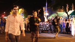 All Souls Procession Tucson - street side - 4 Stock Footage