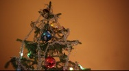 Stock Video Footage of blinking christmas tree