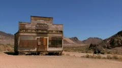 Ghost Town Rhyolite, Death Valley Stock Footage