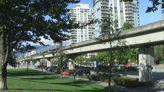 Vancouver Skytrain Transit System Stock Footage