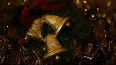 christmas bells - stock footage