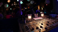 Stock Video Footage of DJ Mixer at Party