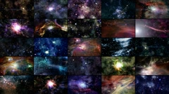 Video Wall 04: The Heavens - 1080p - stock footage