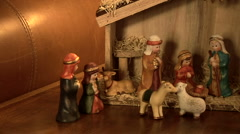 Close up of Christmas manger Stock Footage