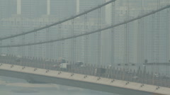Tsing Ma Bridge Traffic Stock Footage