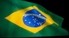 Brazil Flag Wiper Stock Footage