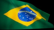Stock Video Footage of Brazil Flag Wiper