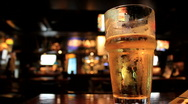 Pint of Beer in British Pub Stock Footage