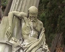 Cemetary statue Stock Footage
