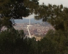 Parcelona city panoramic Stock Footage