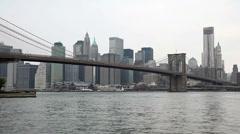 Brooklyn Bridge in New York City Stock Footage