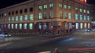 Stock Video Footage of Crossroads Night Traffic