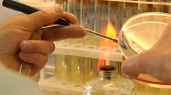 Chemical test Stock Footage