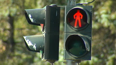 Traffic light for pedestrian Stock Footage