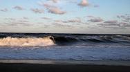 Atlantic Ocean Waves Crashing on Shore Stock Footage