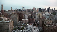 Stock Video Footage of New York City Skyline at Dusk