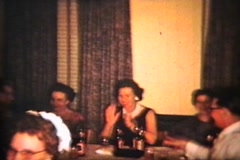 People At A Party (1960 Vintage 8mm film) - stock footage