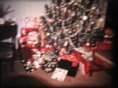 Christmas Party (1962 Vintage 8mm film) Stock Footage