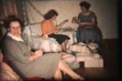 Wedding Shower (1959 Vintage 8mm film) Stock Footage